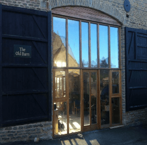 Street entrance of the Old Barn at Wadenhoe