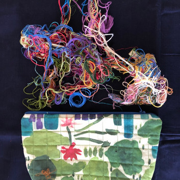 lilypad quilted pouch