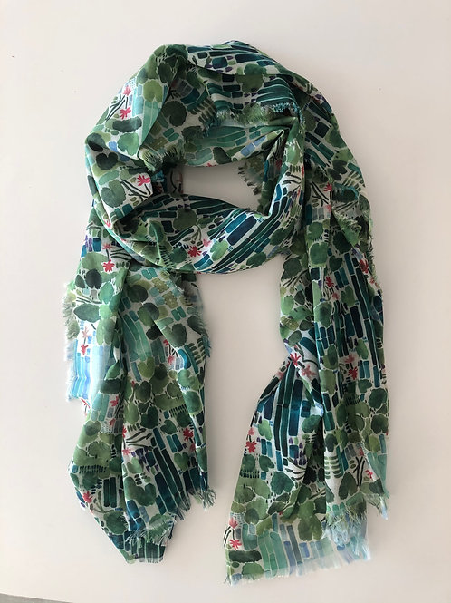 LilyPad Cotton Voile Scarf (Medium)