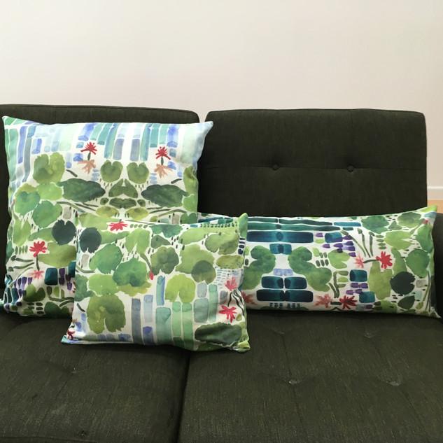 lilypad cushions