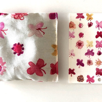 pink butterflies and flowers lavender pouch / bookmark
