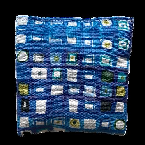 Blue Mosaic Lavender Pouch