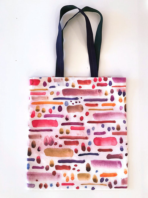 Pink Dots and Dashes Tote Bag