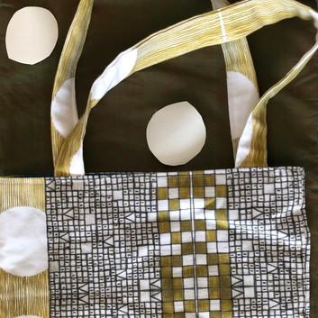 golden mosaic tote bag