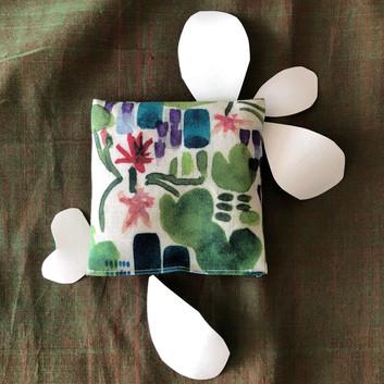 lilypad lavender pouch
