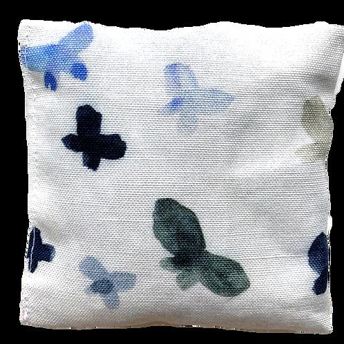 Blue Butterflies Lavender Pouch
