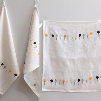poppy linen tea towels
