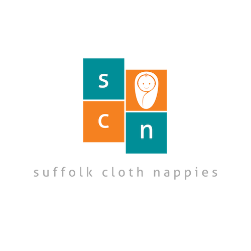 Suffolk cloth nappies logo with darker t