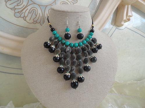 Parure Zara turquoise argent