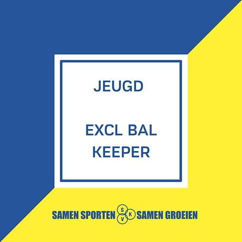 Inschrijving Jeugd EXCL BAL - KEEPER
