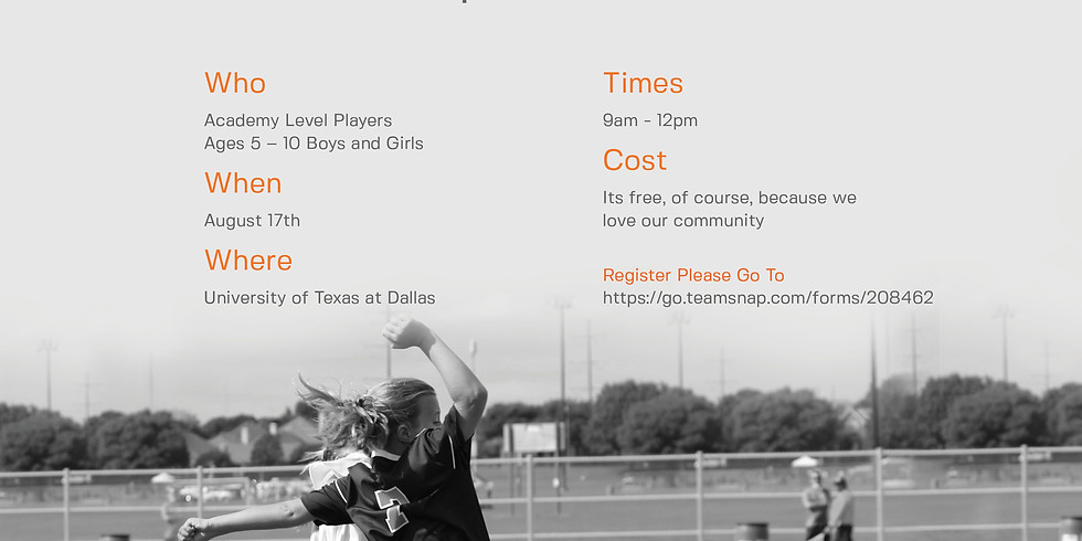 Open Training August 24th at Harold Bacchus Park