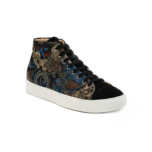 Floral Fantasy high top sneakers