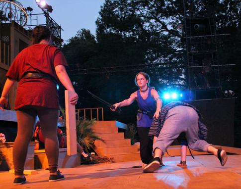 Assistant Fight Choreographer Fight Director: Ted Hewlett With John Murphy, Cassandra DeMarco and Jhenzen Keann Gonzalez Photo Credit:Mike Franzman