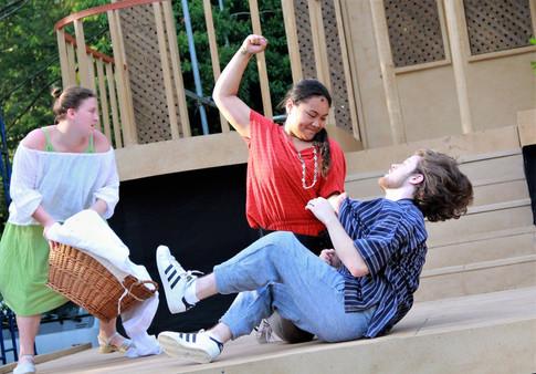 Assistant Fight Choreographer Fight Director: Ted Hewlett With John Murphy, Jhenzen Keann Gonzalez and Erin King Photo Credit:Mike Franzman