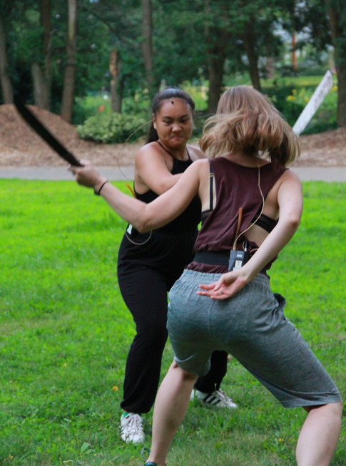 Assistant Fight Choreographer Fight Director: Ted Hewlett With Jhenzen Keann Gonzalez and Cassandra DeMarco Photo Credit:Mike Franzman