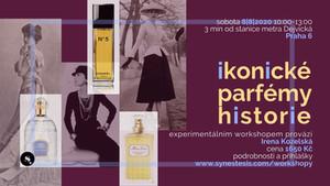 pozvánka na workshop: ikonické parfémy historie
