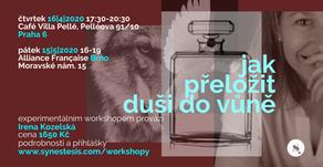 pozvánka na workshop: jak přeložit duši do vůně