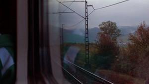 styl: filosof ve vlaku