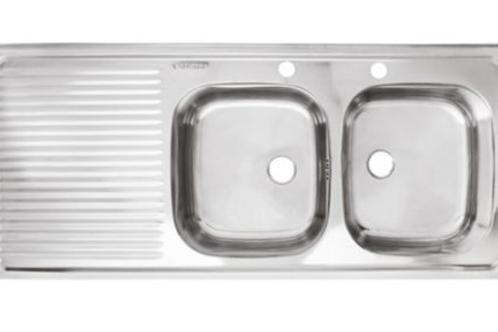 Lavaplatos doble 50 x 120 cm (derecha o izquierda)