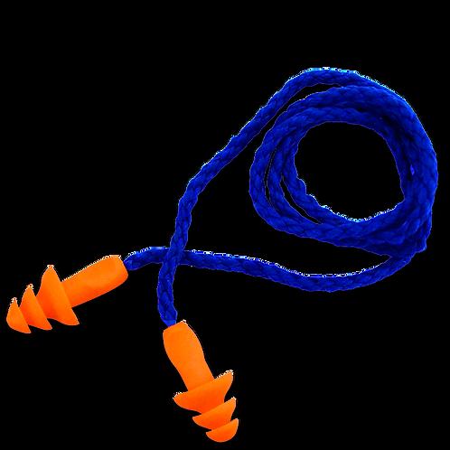 Protector auditivo desechable con cordón