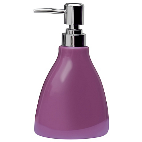 Dispensador de jabón violeta