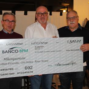 Il Revival Rally Club Valpantena dona un contributo ai comuni di Grezzana, Cerro e Roverè