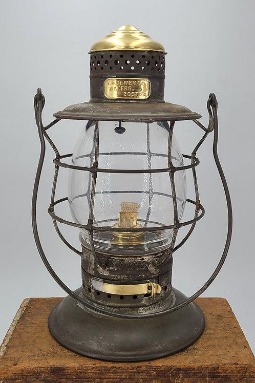 Railroad Signal Lamp & Lantern F.O. Dewey & Sons brass top