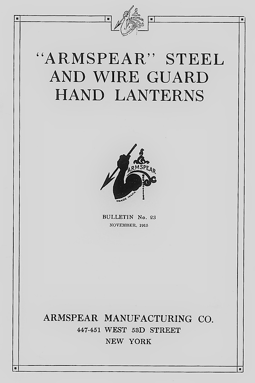 1915 Armspear Bulletin no.23 Catalog