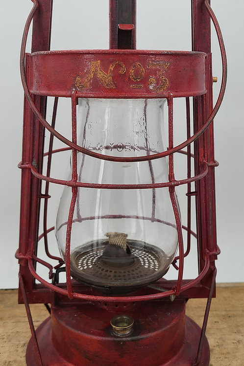 Dietz No.2 Mill lantern ( slide off cage ) No.3 Fire Department use