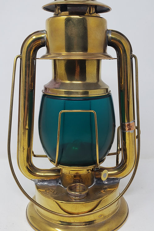 Rayo No.10 Brass short globe coldblast ( Emerald green globe)
