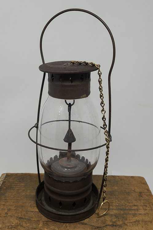 Civil War era Outhouse ? Hand lantern with chain snuffer