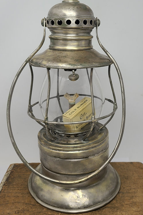 Adam's and Westlake Carbide Acetylene burner lantern  ( engraved J.T. WAKEFIELD)