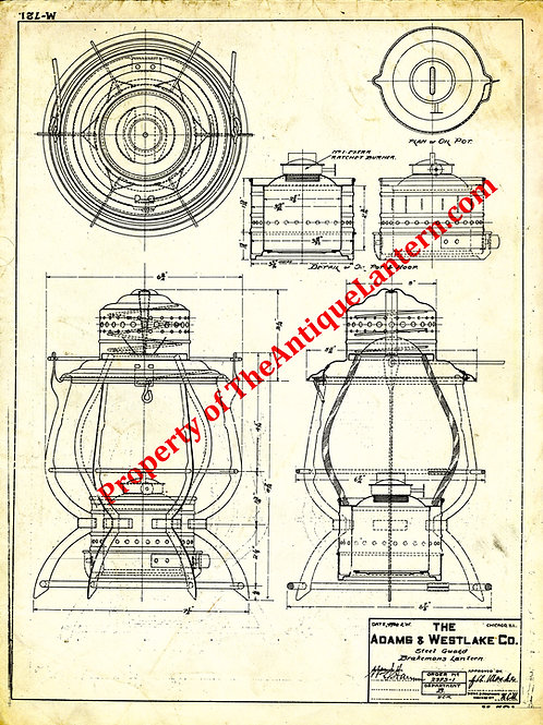 Adams & Westlake Steel Brakemans blueprint 18x24