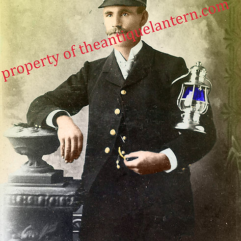 Railroad Conductor colorized Photo 8x12