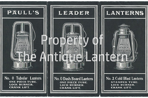 Paulls Leader Lanterns Tubular poster 9x14 matte