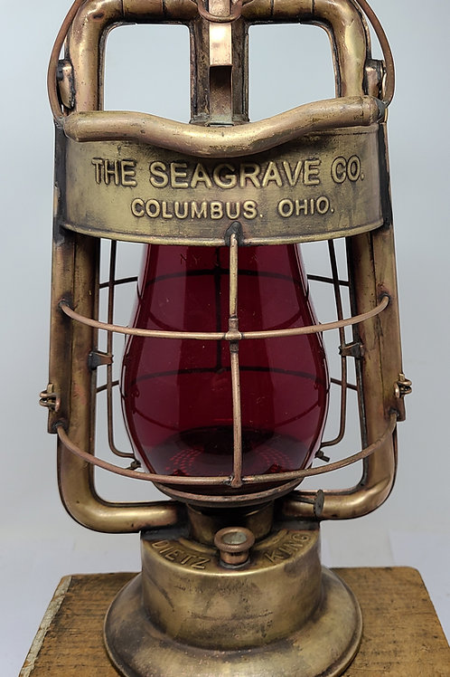 Dietz King Fire Department ( The SEAGRAVE Co.) solid brass