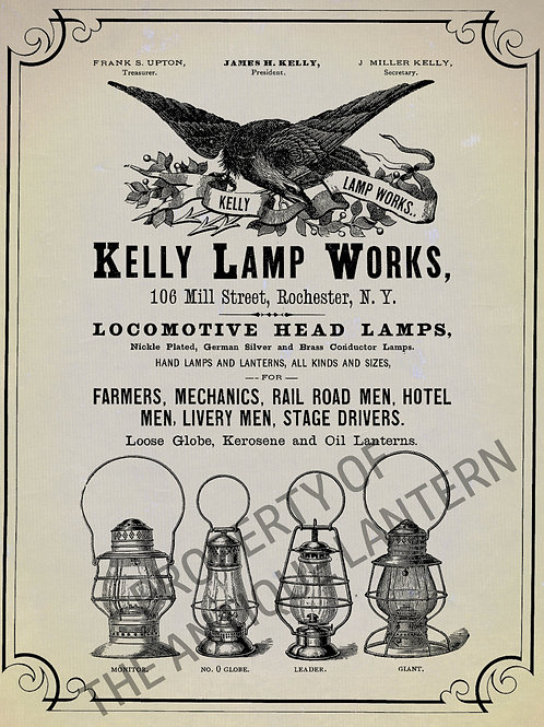 Kelly Lamp Works poster 11x14 gloss finish