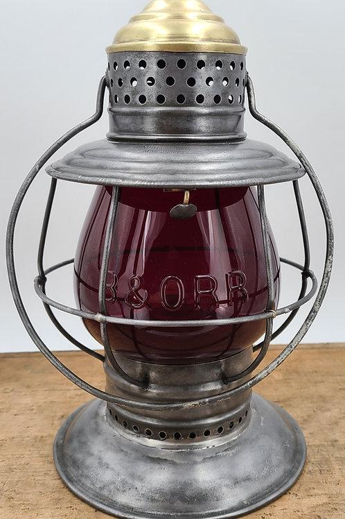 Buffalo Steam Gauge & Lantern Co ( B&O RR) Macbeth globe