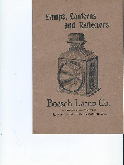 Boesch lamp co. 1892 catalog lamps lanterns