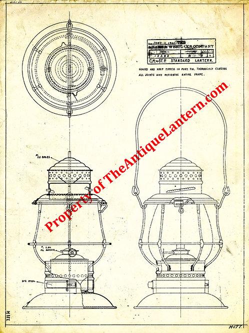 Adams & Westlake C.M.& S.T.P. Blueprint 18x24