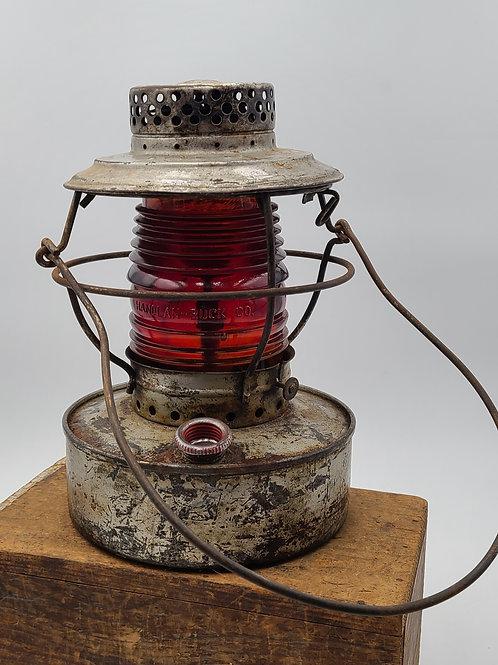 Handlan utility lantern City of Webster Groves , MO ( red amber globe)