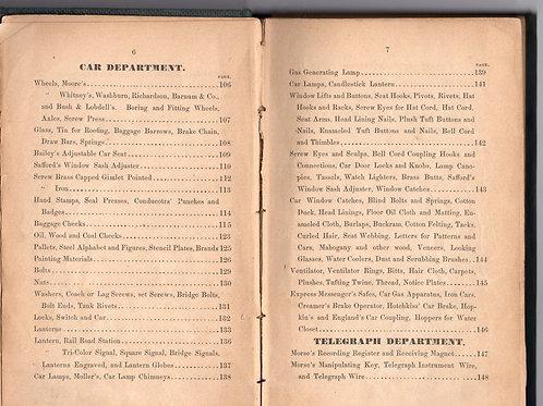 S.B. Bowles 1859 R.R. Supply catalog