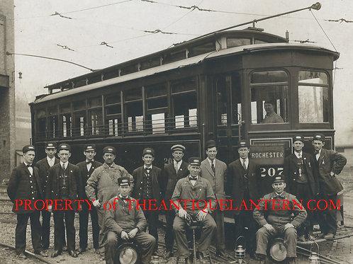 Rochester trolley crew photo 8x10