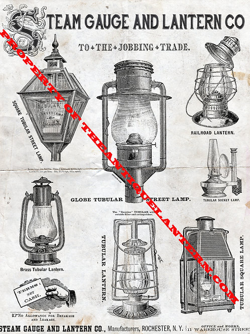 Steam Gauge and Lantern Co Poster 11x14