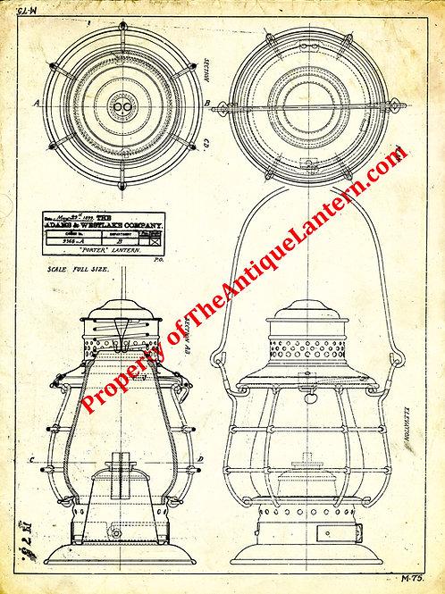 Adams & Westlake Porter blueprint 18x24