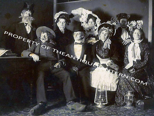 Costume party with lanterns 5x7 print