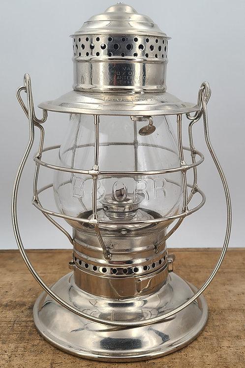 Ohio Lantern Co. ( no.39 ) engraved C.J. Smith ( B&O RR )