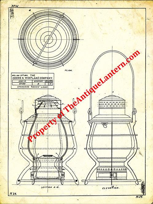 Adams & Westlake Adams standard blueprint 18x24