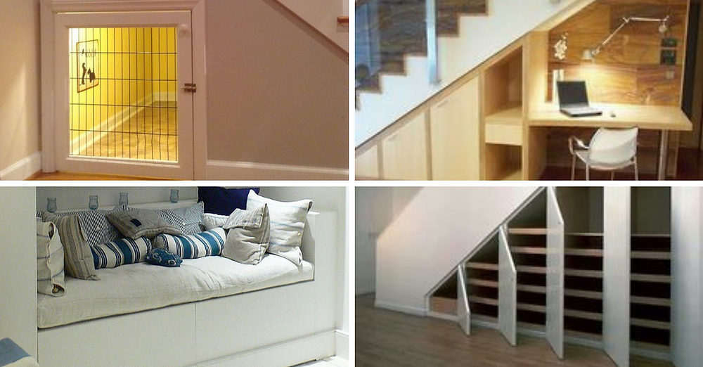 Ways to utilise under the stairs space