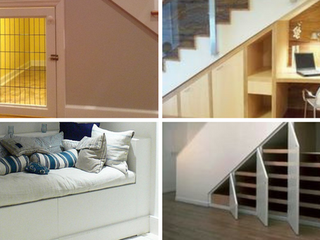 Clever Ways To Use The Space Under Your Stairs.